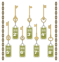 Vintage Keys with a Tag vector image