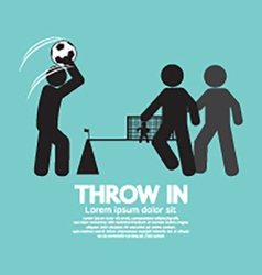 Throw in Soccer Or Football Symbol vector image