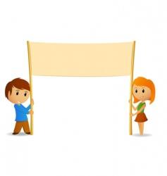cartoon boy and girl vector image