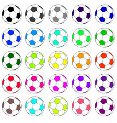 colorful football set 02 vector image vector image