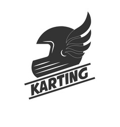 karting club or kart races sport helmet vector image vector image