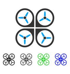 quadrotor flat icon vector image vector image