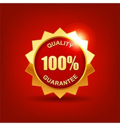quality guarantee vector image vector image