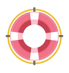 red colored flotation ring vector image