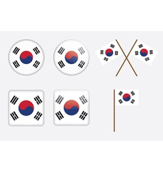 badges with flag of South Korea vector image vector image