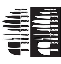 butcher knife silhouette sharp vector image vector image