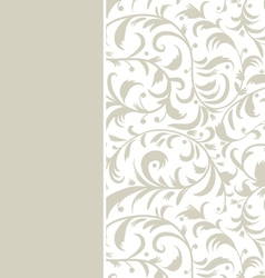 Floral background with place for your text vector image