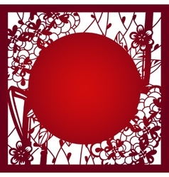 Laser cut template layout vector image