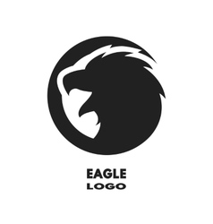 Silhouette of the eagle monochrome logo vector image