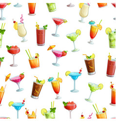 Alcoholic cocklails seamless pattern vector