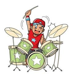 Anime Manga Drummer vector