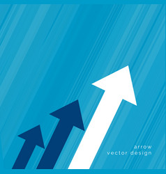 Arrow design for business growth concept vector