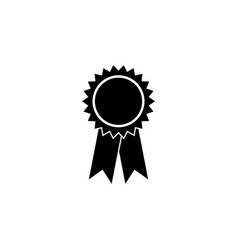 award icon black on white vector image