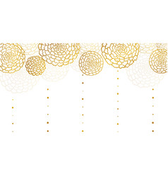 banner with golden marigolds and drops vector image