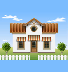 Beautiful small house vector