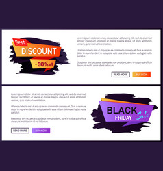 best discount -30 off black friday big sale 2017 vector image