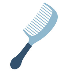 blue comb on white background vector image