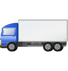 Blue isolated shipping truck vector