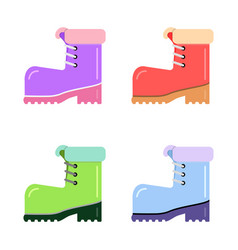 boots hiking flat style vector image