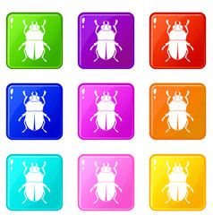 Bug set 9 vector