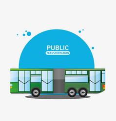 bus city vehicle public transport vector image