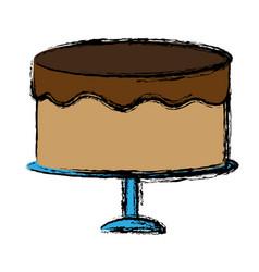 Cake design vector