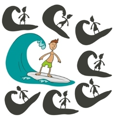 Cartoon surfer vector image
