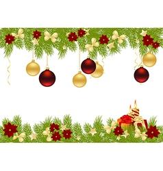 christmas pine frame 1011 02 vector image