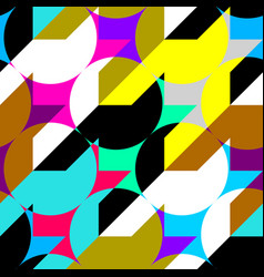 classic polka dot pattern in a patchwork collage vector image
