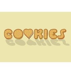 Cookies Sweet artistic font vector