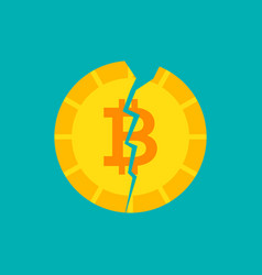 crash bitcoin concept vector image