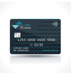 credit card dark blue design on white background vector image