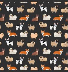 Cute decorative dogs pattern vector