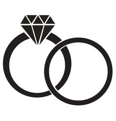 Diamond ring vector