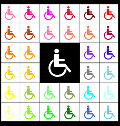 disabled sign felt-pen 33 vector image
