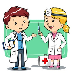 Doctor kids vector
