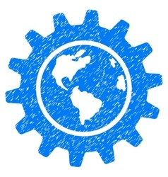 Earth Engineering Grainy Texture Icon vector