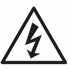 electrical hazard symbol vector image