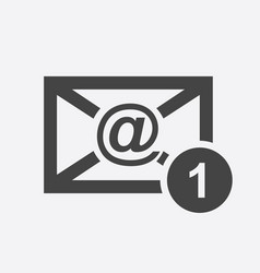 email envelope message in flat style on white vector image vector image