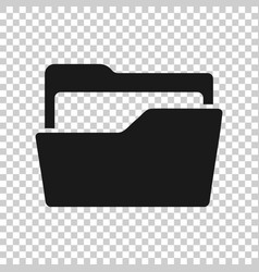 file folder icon in transparent style documents vector image