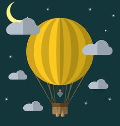 Flat design modern of a hot air balloon concept vector image