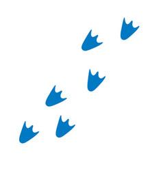 fun cartoon duck or penguin footprints vector image
