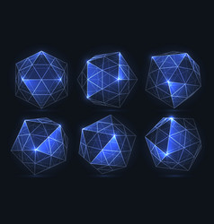 Geometric forms of diamonds polygons vector