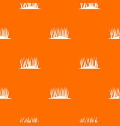 Grass on ground pattern seamless vector
