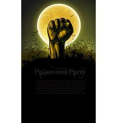Halloween background with hand vector