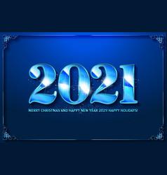 happy new year celebration 2021 vector image