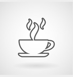 hot coffee cup icon vector image