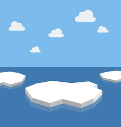 Ice floe in the sea vector