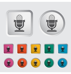 icon vintage microphone vector image
