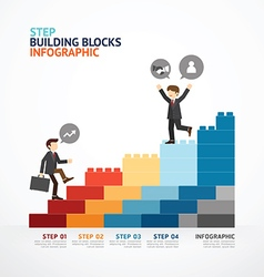 Infographic Template step building blocks vector